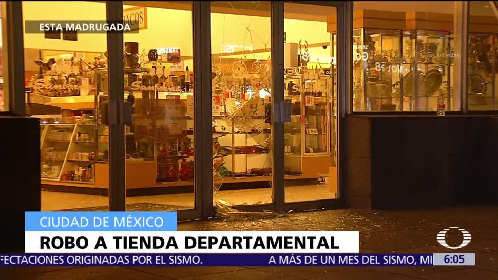 Roban tienda en la delegación Miguel Hidalgo, CDXM