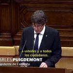 Cataluña declara y suspende su independencia