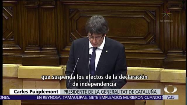 Rajoy advierte de medidas excepcionales si Cataluña no retira declaración de independencia