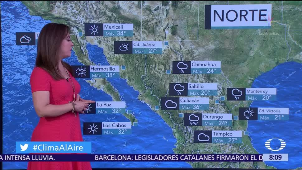 Clima Al Aire: Frente frío 4 favorecerá lluvias en el Valle de México