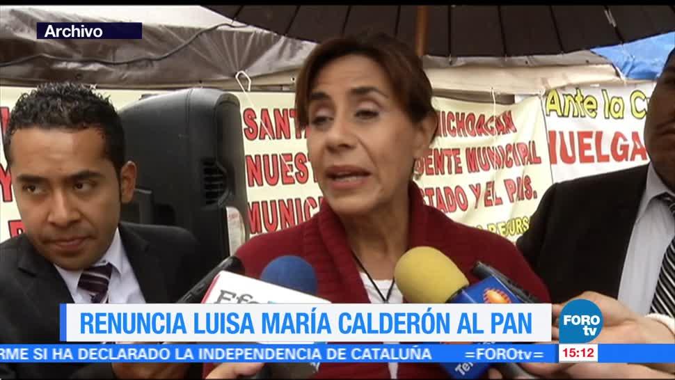 Renuncia Luisa María Calderón al PAN