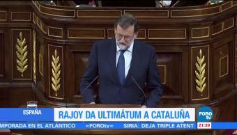 Mariano Rajoy da ultimátum a Cataluña