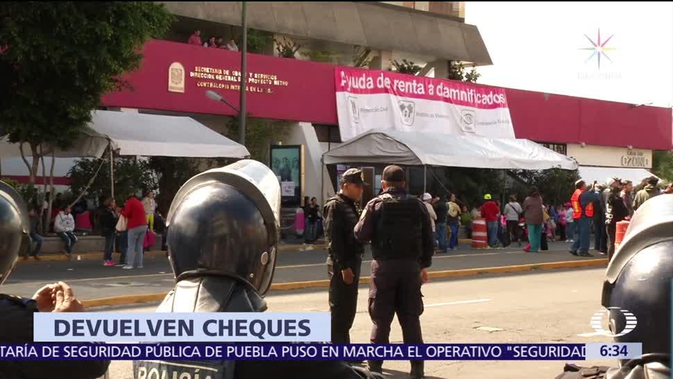 Contraloría CDMX vigilará entrega de cheques a damnificados del sismo