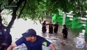 SLP y Chiapas, afectados por intensas lluvias