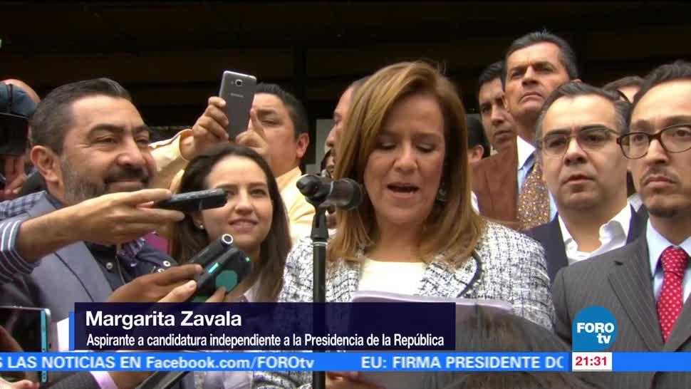 Margarita Zavala se registra como aspirante a candidatura independiente
