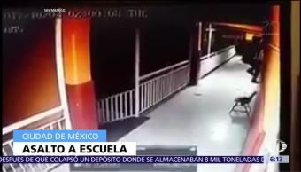 Roban escuela dañada por sismo en la CDMX