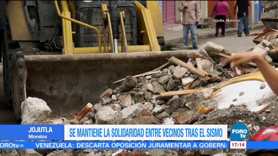Vecinos Jojutla Morelos Mantienen Solidaridad Sismo
