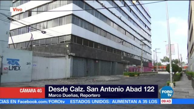 Sin trabajos de demolición en calzada San Antonio Abad 122