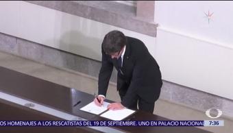 Carles Puigdemont envía carta al gobierno de España