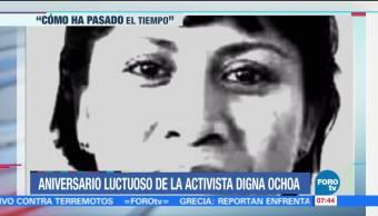Aniversario luctuoso de la activista Digna Ochoa
