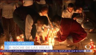 Realizan la noche de las velas en homenaje a las víctimas de los sismos en CDMX