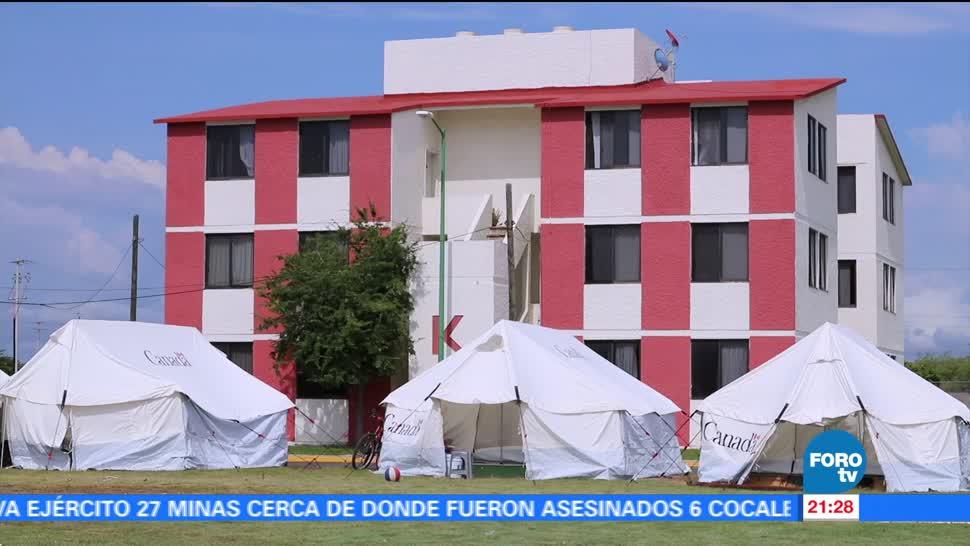 Sismo daña base aérea militar en Oaxaca