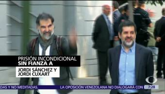 Dictan prisión preventiva contra dos líderes catalanes que promovieron revueltas separatistas
