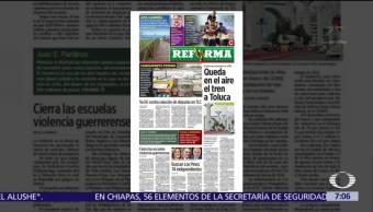 Reforma destaca denuncia de Juan Pardinas contra El Universal