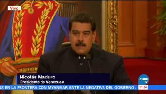 Maduro realiza rueda de prensa internacional