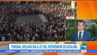 Tribunal declara nula la ley del referéndum en Cataluña