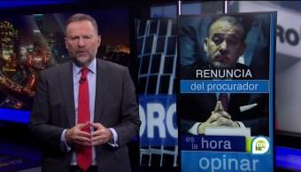 Renuncia del del procurador general de la república Raúl Cervantes