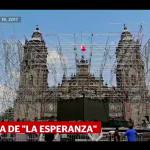 Captan caída de La Esperanza en la Catedral Metropolitana