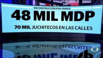 Reconstrucción por sismos costará 48 mil mdp