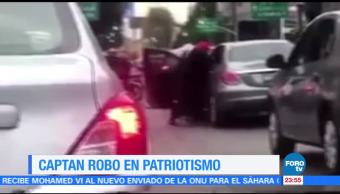 Captan asalto a un automovilista en Patriotismo