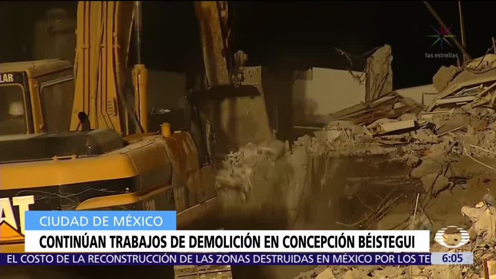 Continúan los trabajos de demolición en Concepción Béistegui
