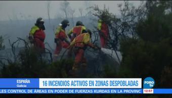 Incendios forestales en España y Portugal generan estragos