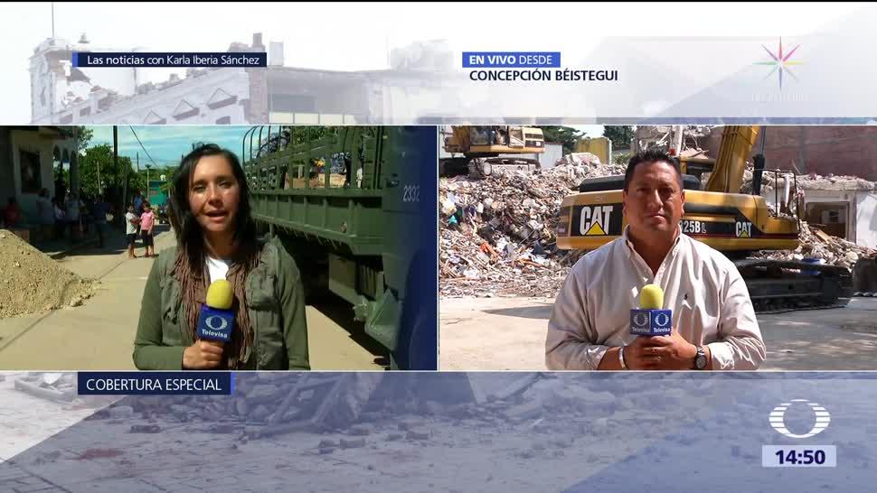 Continúa la demolición en edificio de Concepción Béistegu