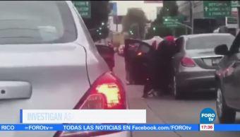 Captan momento en asaltan a automovilista en avenida Patriotismo