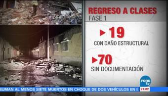Reconstrucción de escuelas tras sismos de septiembre