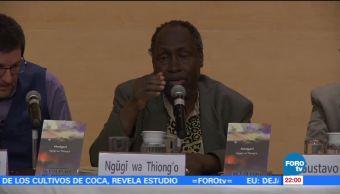 Escritor keniano Ngugi Wa Thiong'o visita México