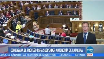 Empezará proceso para suspender autonomía de Cataluña