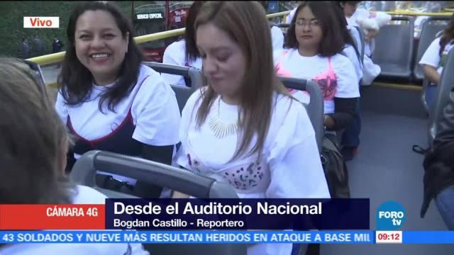 Mujeres conmemoran el Día Internacional del Cáncer de Mama en CDMX