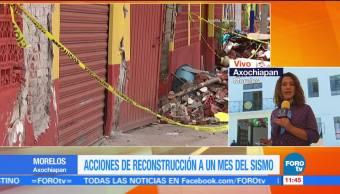 Cómo se recuperan en Axochiapan, Morelos, epicentro del sismo del 19S