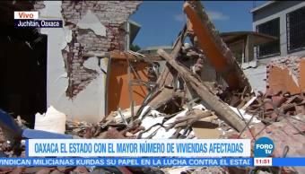 Suman mil 500 casas afectadas tras sismos de septiembre en Oaxaca