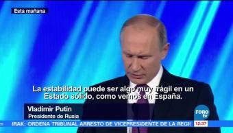 Vladimir Putin se pronuncia sobre la crisis política en Cataluña