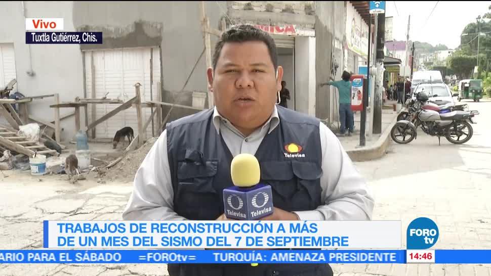 Reconstruyen viviendas afectadas por sismo en Chiapas