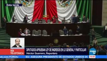 Disputados aprueban Ley de Ingresos para el 2018