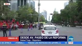 Marcha avanza sobre Reforma al Zócalo