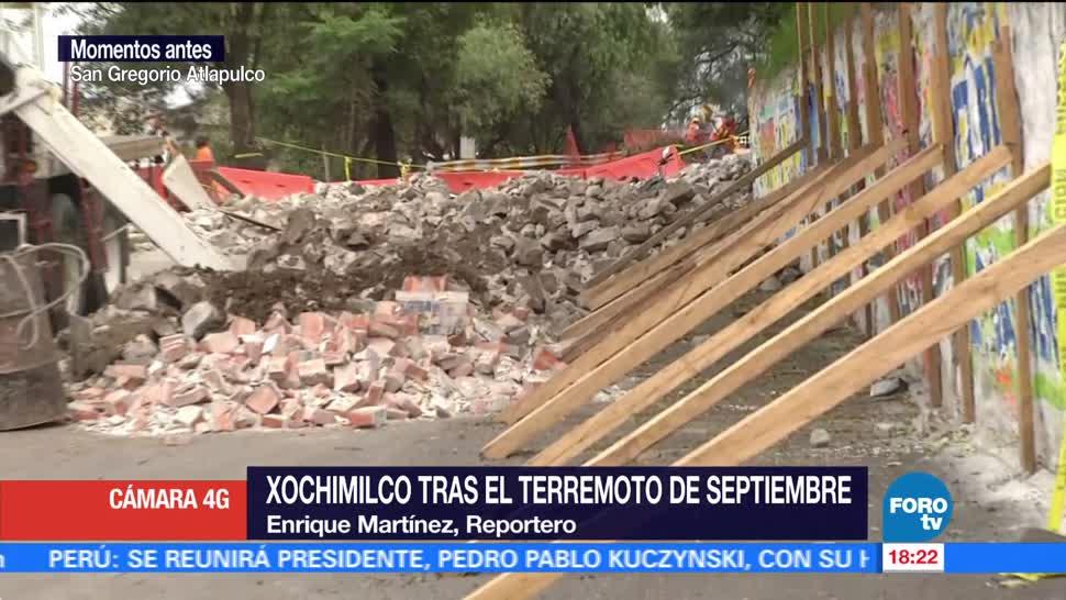 Xochimilco, tras el terremoto de septiembre