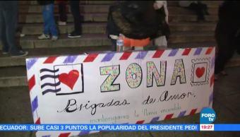 Homenaje en Ángel de la Independencia para las víctimas del sismo