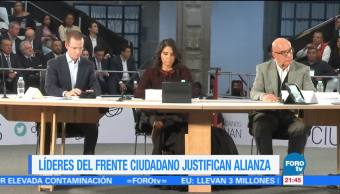 Líderes del Frente Ciudadano justifican alianza
