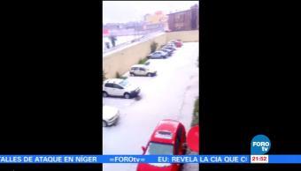 Granizada deja afectaciones en Toluca