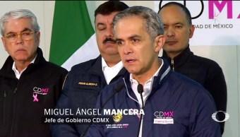 Mancera pide no desesperarse tras sismo