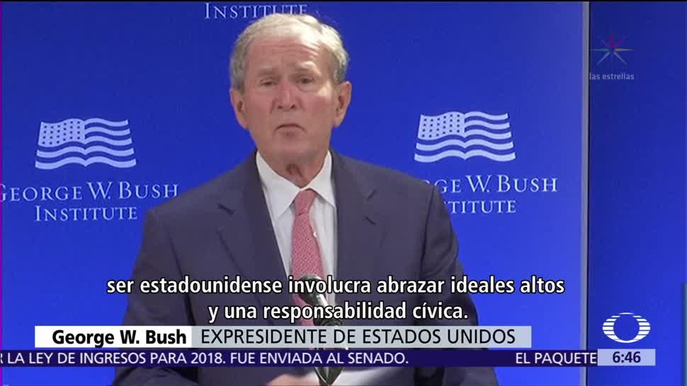 Preocupa a George W. Bush el fortalecimiento del fanatismo en EU