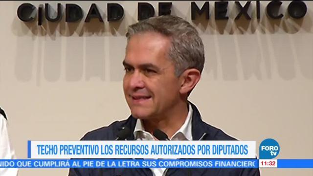 Mancera afirma que recursos liberados por diputados para reconstrucción serían para Sacmex