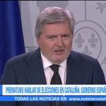 Prematuro establecer fecha para elecciones en Cataluña, dice España
