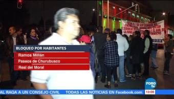Bloqueo sobre Río Churubusco afecta a cientos de automovilistas