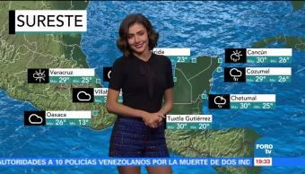 El clima de En Una Hora con Daniela Álvarez