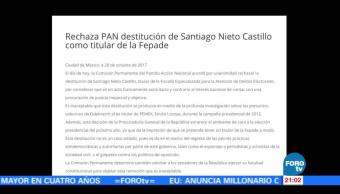 PAN, PRD y Margarita Zavala piden que se impugne destitución de Nieto