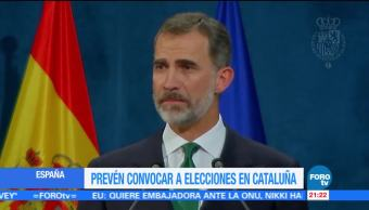 España prevé convocar a elecciones en Cataluña